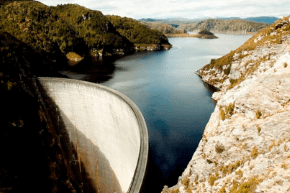 Nature and recreation image showing a water dam.