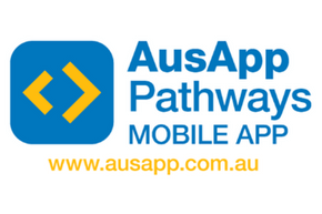 The AusApp Pathways mobile app logo