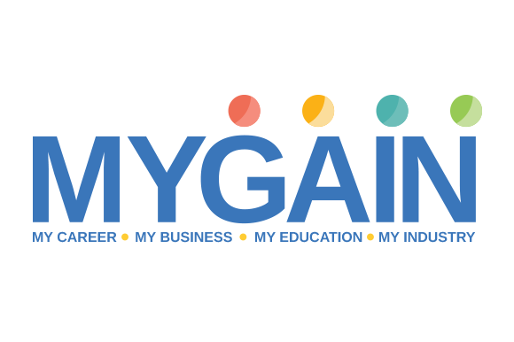 The Mygain logo